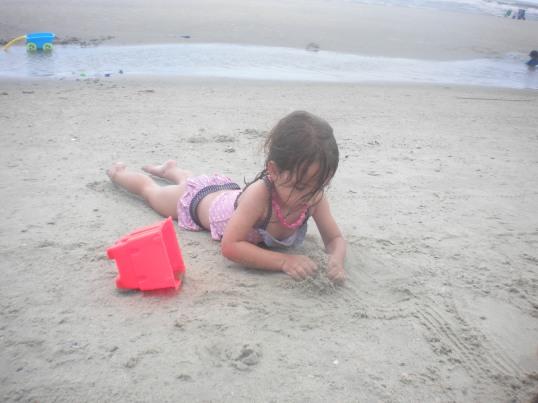 She's no stranger to sand...