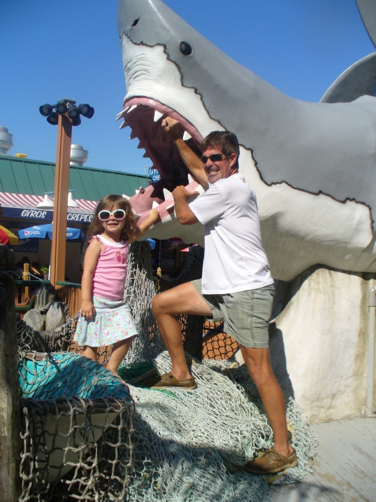 I saved the kids from the shark....cause that's what daddies do