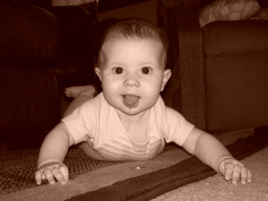 2008 ~ She's always been a 'happy child', even when teething