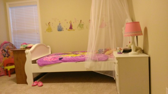 working on the Princess bedroom