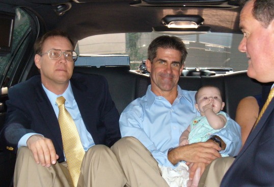 Riding in the back of a limo at 3 months...you'll never guess where we are going?