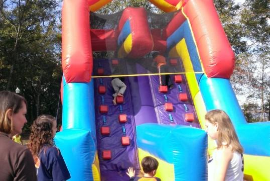 Skylar going up the castle....