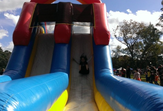 ..and Dylan sliding down!
