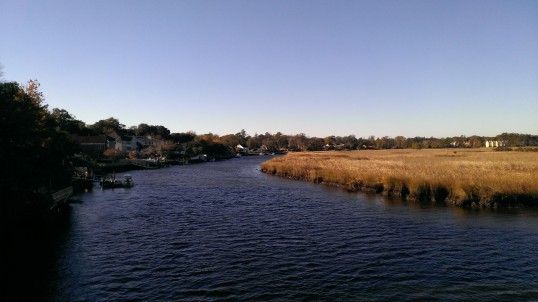 Fall over the chilly coastal waterway on the way to work