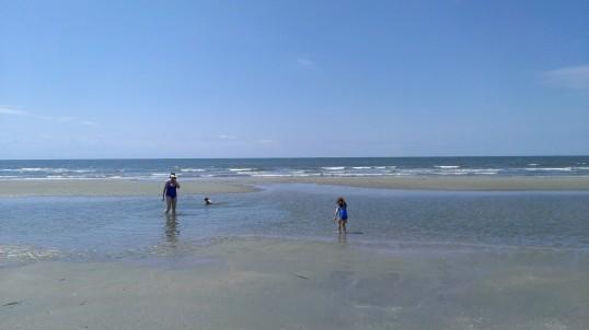 clear blue Atlantic