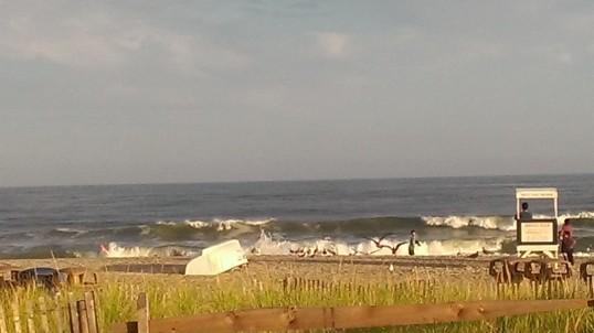 surf at dusk