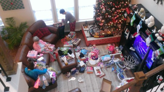 Santa Clause residue all over the living room...