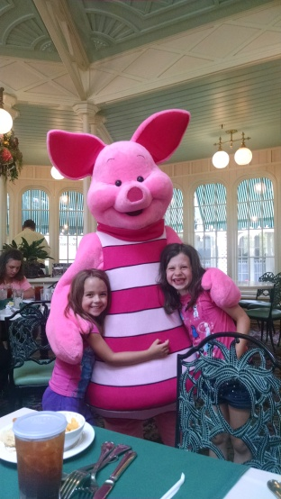 Piglet asked what the girls were wearing?