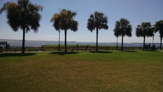 Castle Pinkney and Fort Sumter on the right, start of America's Civil War