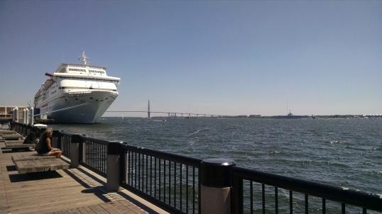 Carnival Fantasy, Cooper River Bridge (Arthur Ravenel Bridge), Yorktown battleship