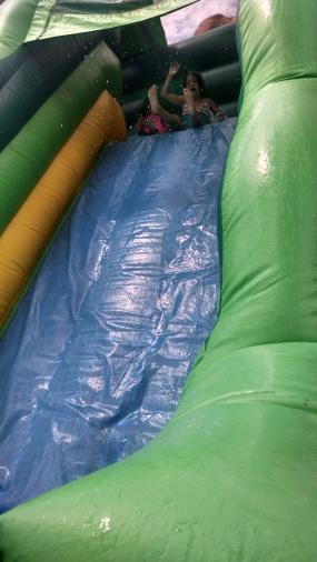 a post pool slide