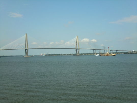 The new Arthur Ravenel Bridge, formerly known as the Cooper River Bridge. Get over it!