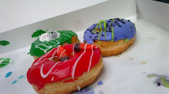 Yes, that is an eye ball sticking out of that green donut